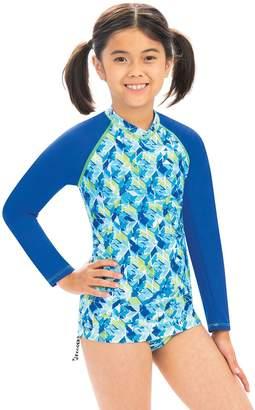 Dolfin Uglies Girls Summertime Print Long-Sleeve RashGuard
