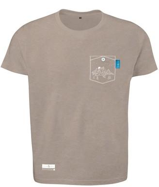 Anchor & Crew Tan Brown Horizon Print Organic Cotton T-Shirt (Mens)