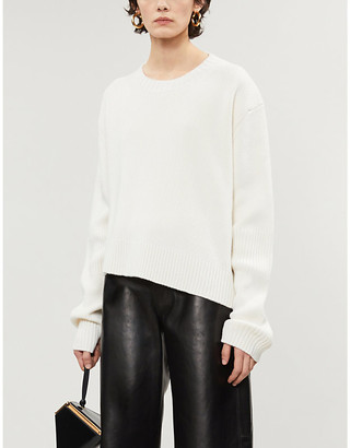 Bottega Veneta Asymmetrical chunky knit wool-blend jumper