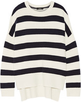 Theory Karenia Striped Cashmere Sweater - Ivory