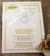 Little Things Mean a Lot Christening Headband to Wedding Garter, White / One