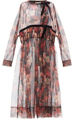 Molly Goddard Harmony Floral-print Tulle Coat - Multi