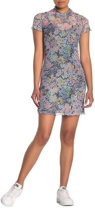 Love, Fire Short Lettuce Hem Mesh Dress
