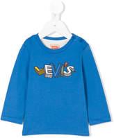 Levi's Kids logo print buttoned sweatshirt