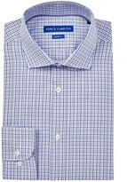 Vince Camuto Oxford Trim Fit Check Dress Shirt