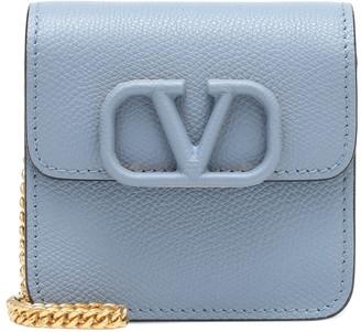 Valentino VSLING leather clutch