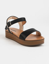 Soda Sunglasses Nebula Platform Black Womens Flatform Sandals