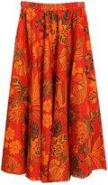 Astage Women`s Bohemia Skirt Floral-Print Maxi Skirt Hawaii Big Flower