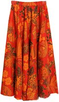 Astage Women`s Bohemia Skirt Rose Fruit Floral-Print Maxi Skirt
