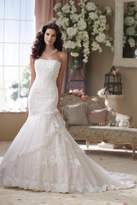 David Tutera for Mon Cheri Lace Trumpet Gown