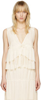 See by Chloe White V-neck Tank Top