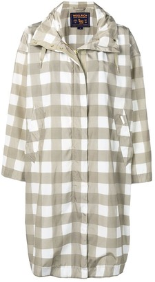 Woolrich Checked Raincoat