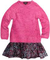 Imoga Scarlet Long-Sleeve Eyelash Sweater Combo Dress, Wonderland, Size 8-14