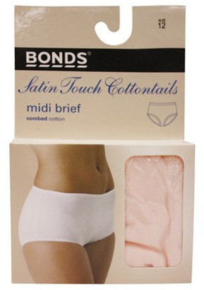 Bonds 'Cottontails' Satin Touch Midi Brief 1019