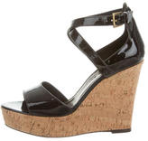 Barbara Bui Patent Wedge Sandals