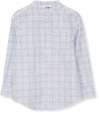 M&Co Grandad collar check shirt (3-13yrs)