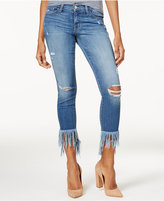 Flying Monkey Ripped Fringe Skinny Jeans