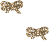 Marc Jacobs Pave Twisted Bow Stud Earrings