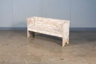 Sarreid Ltd. Beach Wood Bench Color: Whitewash