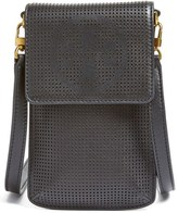 Tory Burch Perforated Leather Smartphone Crossbody Bag - Black