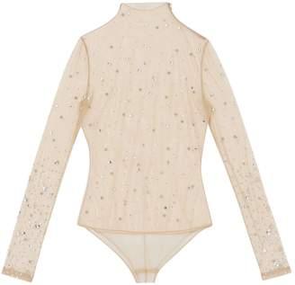 Burberry Crystal-Embellished Rollneck Bodysuit