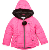 KC Collections Fuchia Ball Quilted Puffer Coat - Infant & Girls
