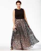 Say Yes to the Prom Trendy Plus Size Illusion Gown, Created for Macy's