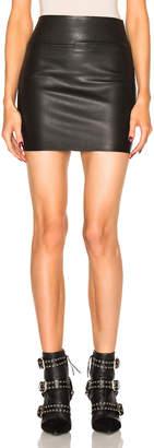 Sprwmn Leather Mini Skirt in Black | FWRD