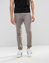 Asos Super Skinny Jeans In Mid Grey
