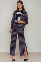Saint Tropez Striped Pants With Slits