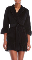 Juicy Couture Cozy Love Ruffled Velour Robe
