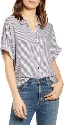 Splendid Canyon Short Sleeve Stripe Print Shirt