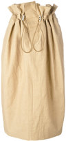 Stella McCartney drawstring waist skirt - women - Cotton/Linen/Flax/Polyamide - 36