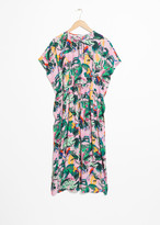 And other stories Tropical Midi Kaftan Dress