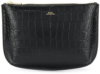 A.P.C. Crocodile Embossed Clutch