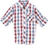U.S. Polo Assn. Winter White & Blue Plaid Button-Up - Boys