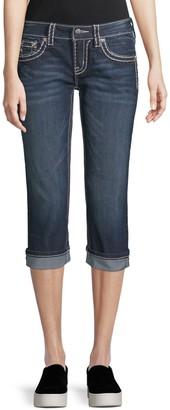 Miss Me Thick Stitched Capri Jeans