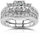 Ice 1 3/5 CT TW Diamond 14K White Gold Bridal Ring Set