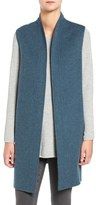 Eileen Fisher Sleeveless Double Face Brushed Wool Blend Kimono