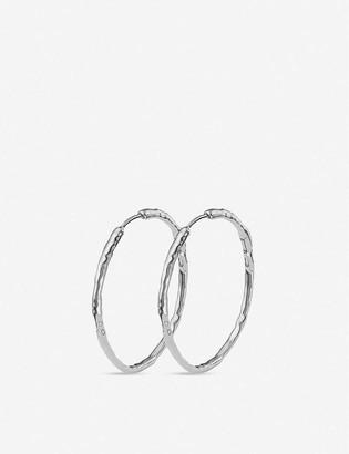 Monica Vinader Siren large sterling silver hoop earrings
