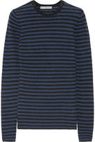 Vince Striped Cashmere Sweater - Navy