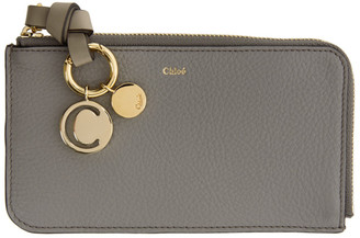 Chloé Grey Alphabet Zip Around Wallet