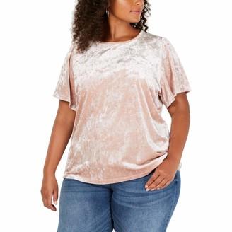 Lucky Brand Women's Plus Size Velvet TOP