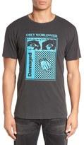 Obey Men's 'Damaged' Lightweight Pigment Graphic T-Shirt