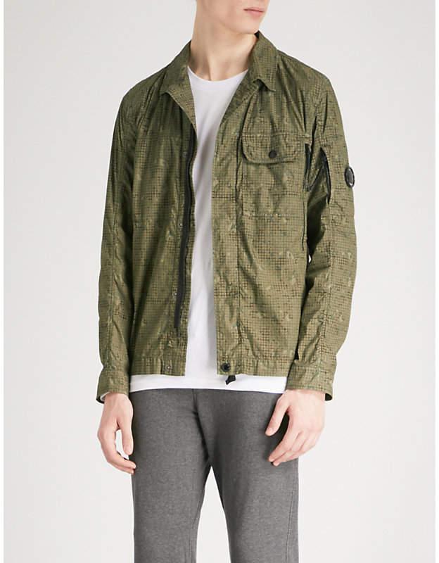 C.P. Company Camouflage-print shell cotton-blend overshirt