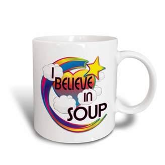 3drose 3dRose I Believe In Soup Cute Believer Design - Ceramic Mug, 11-ounce