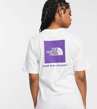 The North Face Boyfriend Red Box t-shirt in white Exclusive at ASOS