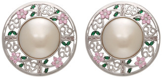 Jiwinaia SSENSE Exclusive Pink 69 Floral Disc Earrings