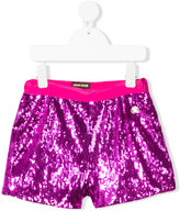 Roberto Cavalli sequined shorts - kids - Polyester/Acetate/Cupro - 4 yrs