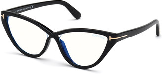 Tom Ford Acetate Cat-Eye Optical Glasses, Black
